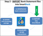 "Step 2) ""Import"" the downloaded Bank Statement file into SmartBank"
