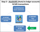 Step 3) Auto Allocate, Split, Edit and Reconcile transactions